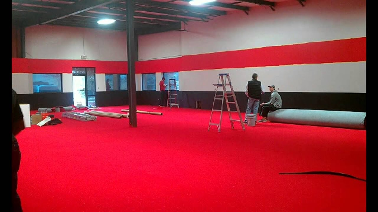 Time Lapse Video Xfactor Gym Painting Of Red Stripe On