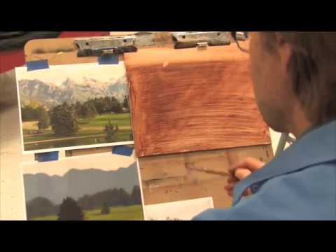Oil Painting Landscape Demonstration (See note below about this video)