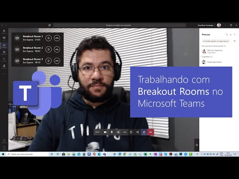 Trabalhando com Breakout Rooms no Microsoft Teams