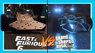 GTA 5: Fast and Furious 6 Flip Car Scene (Side By Side Comparison)