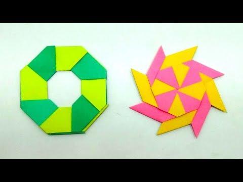 How To Make A Paper Ninja Star At Home   Transforming Ninja Star Easy Origami Tutorial   Ninja Star