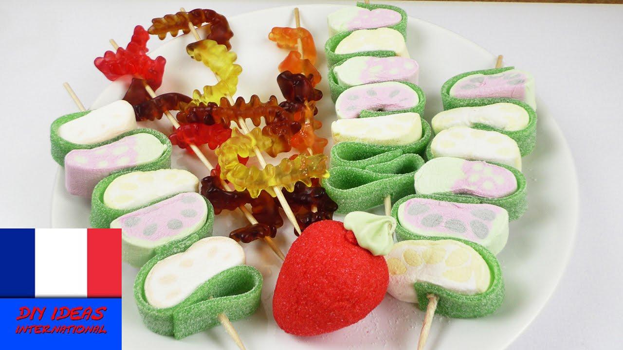 Brochettes de bonbons super id e pour une f te mille - Idee paquet bonbon pour anniversaire ...