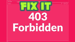 #5 How to fix Error 403 (forbidden) in any web page in google chrome #computerrepair