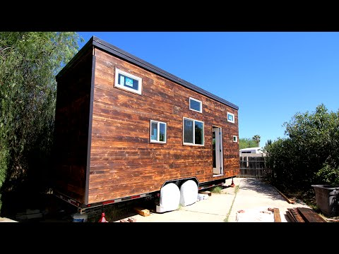 Tiny House Shou Sugi Ban Siding Installation