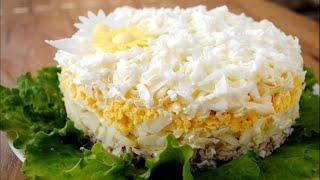 Салат «НЕВЕСТА» на Праздник. Простой И Вкусный салат на НОВЫЙ ГОД 2020 с курицей и сыром 🌟