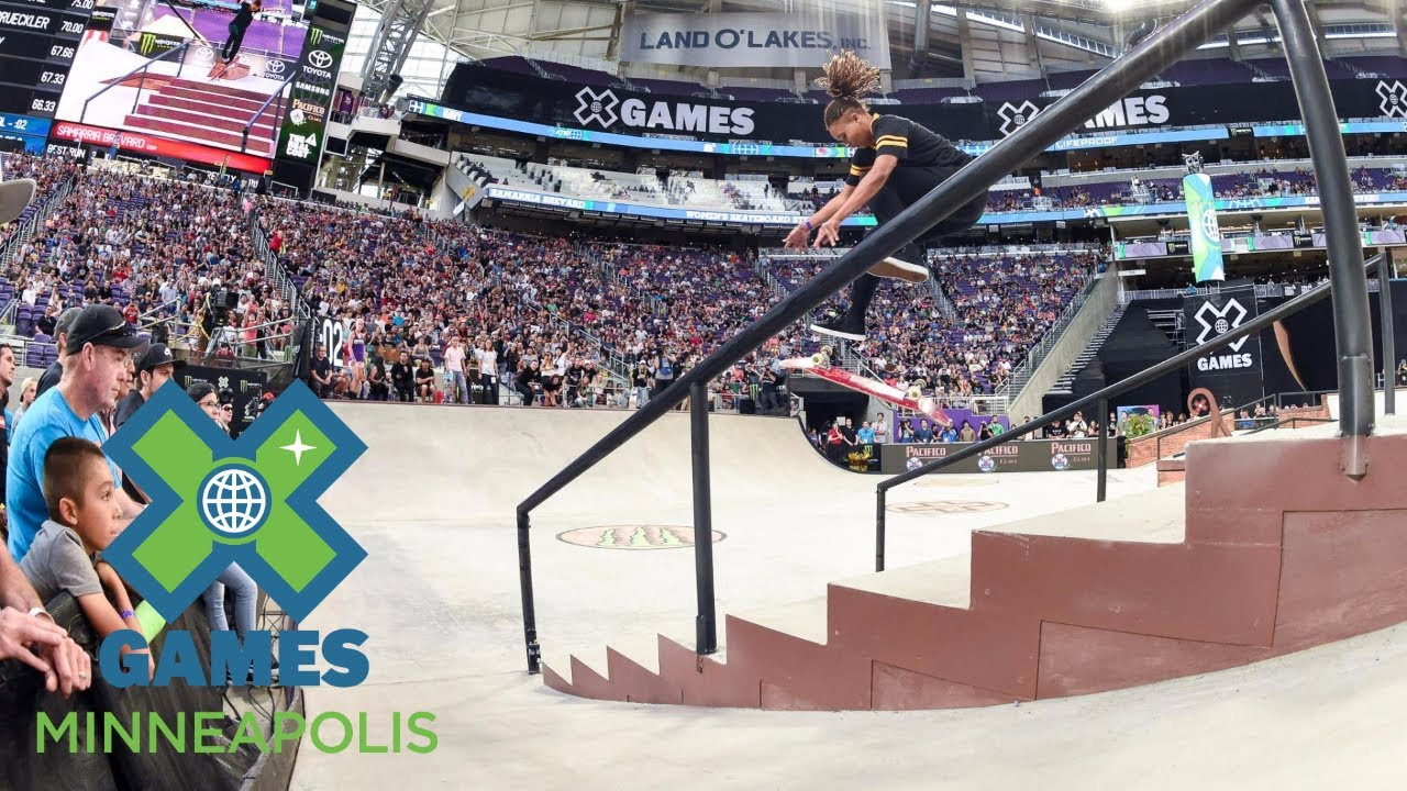 Samarria Brevard wins Women's Skateboard Street silver | X Games Minneapolis 2017