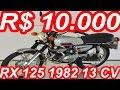 PASTORE R$ 10.000 Yamaha RX 125 1982 MT5 13 cv 115 kmh