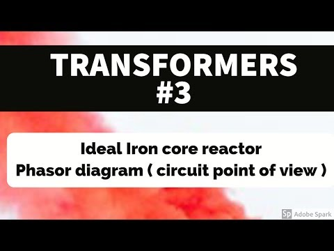 Repeat TRANSFORMER #3 - Ideal Iron core reactor ( Phasor diagram