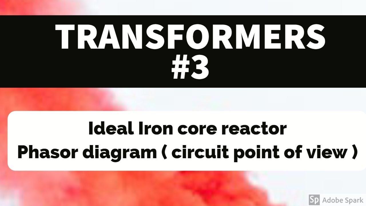 Transformer  3 - Ideal Iron Core Reactor   Phasor Diagram - Circuit View