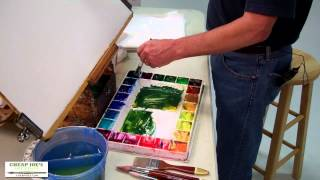Watercolor Techniques with Don Andrews-Mixing Greens
