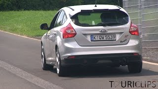 2016 Ford Focus RS mule spied testing on the Nürburgring!