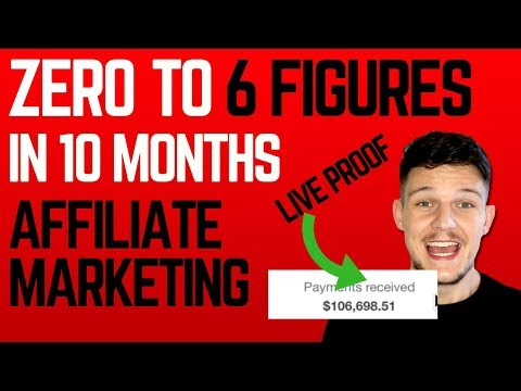 Affiliate Marketing – How I Went From ZERO to 6 FIGURES in less than 10 months!