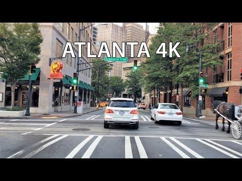 Driving Downtown - Downtown Atlanta 4K - USA