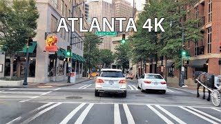Driving Downtown - Downtown Atlanta 4K - USA