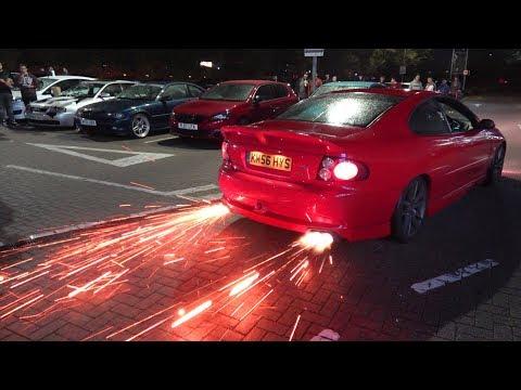 2step Vauxhall Monaro launch control FLAMES!