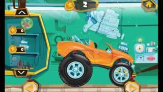 Машинка MONSTER TRUCK упала в бассейн  Мультики про машины  Мультфильмы про маши