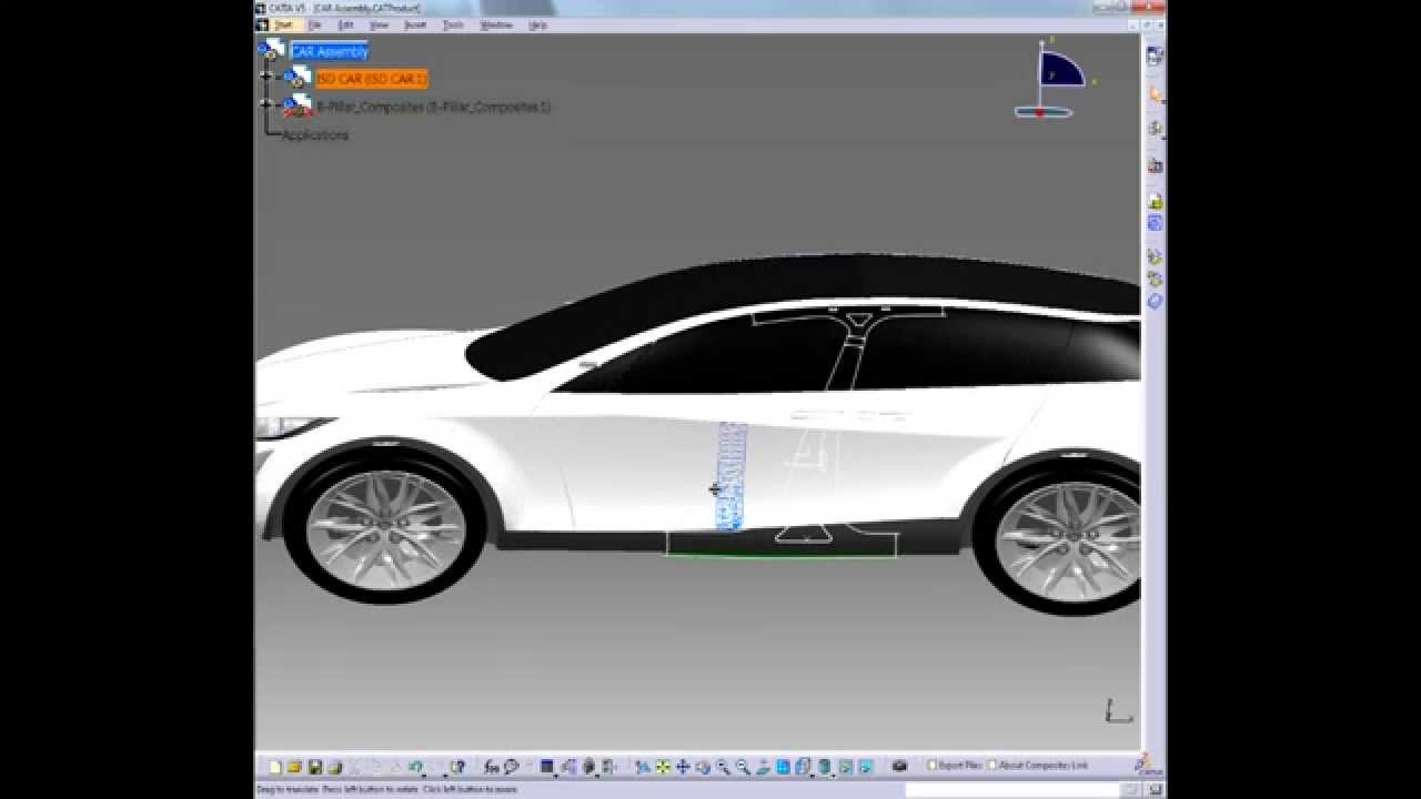 CATIA V5 | Composites | Automotive Body in White - Solid Slicing