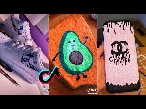 People Painting Things on TikTok for 7 Minutes Straight Part 12 | Tik Tok Art