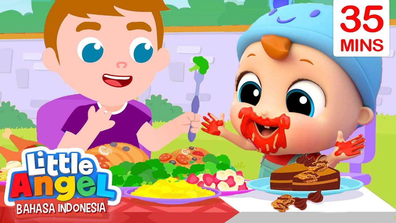 Jangan Berantakan Kalau Makan! | Kartun Anak | Little Angel Bahasa Indonesia