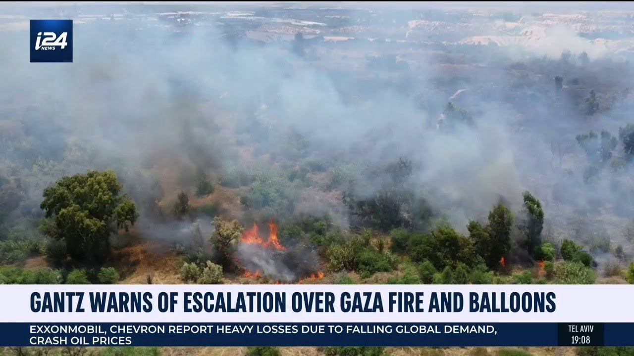 Israel's Defense Minister Warns of Escalation Over Gaza Fires and Incendiary Balloons