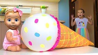 Маша и мама и видео поучительное видео для детей про игрушечное мороженое