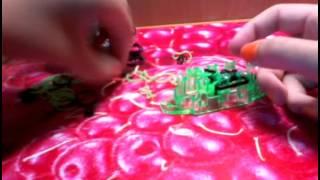 Браслет Пассифлора из резинок |урок 1|Rainbow Loom