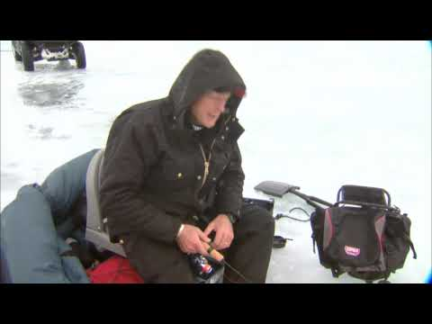 Canadian Sportfishing Ice Fishing For Jumbo Perch, Lake Simcoe ON  Csf 24 04 01