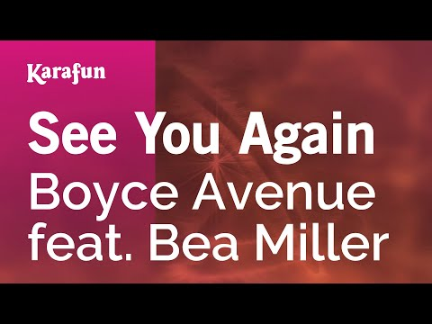 Karaoke See You Again - Boyce Avenue *