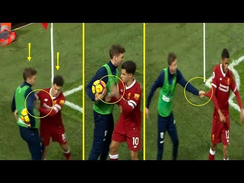You must watch  what happened to Philippe Coutinho / west Bromwich vs Liverpool