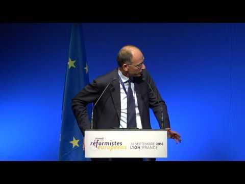 Enrico Letta au Sommet des réformistes européens