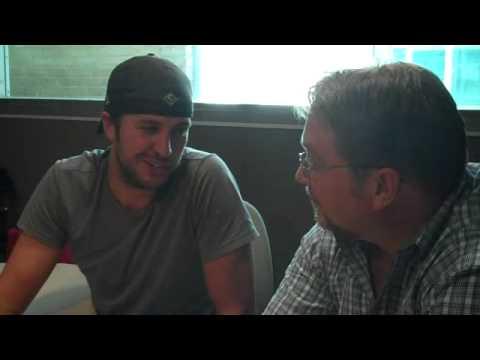 Bob Pickett visits with Luke Bryan
