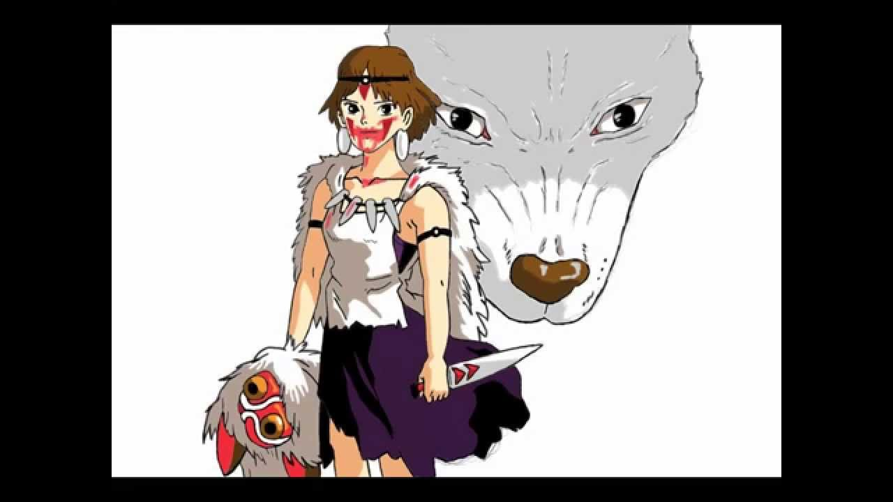 Princesse Mononoke Drawing Nokidoki Youtube