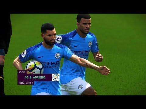 Manchester City vs Huddersfield - Premier League 2018/19 Gameplay
