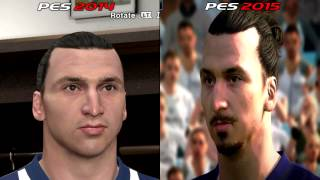 PES 2015 - PC Faces And Comparison With Real Life And PES 2014 [HD]