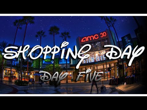 DISNEYLAND CALIFORNIA 2017  | DAY 5 | SHOPPING AT THE OUTLETS🛍