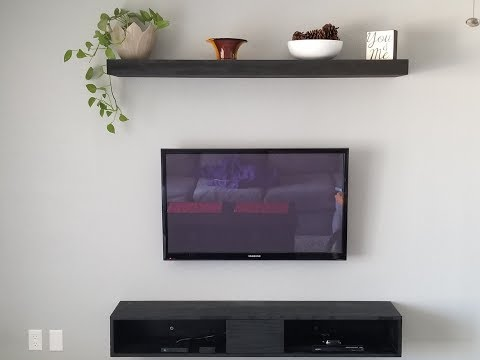 Floating Entertainment Center, Shelf and TV Mount
