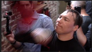 RUSLAN PROVODNIKOV WORKSOUT ON THE SPEED BALL @ OPEN MEDIA DAY / PROVODNIKOV v MOLINA JR