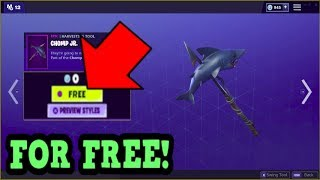 HOW TO GET CHOMP JR. PICKAXE FOR FREE! (Fortnite Old Pickaxe)