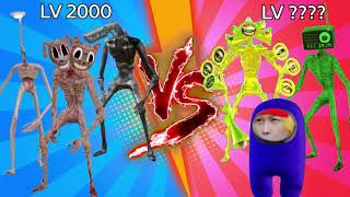 Team Siren Head vs Siren Head level up boss vs Human Hulk 11