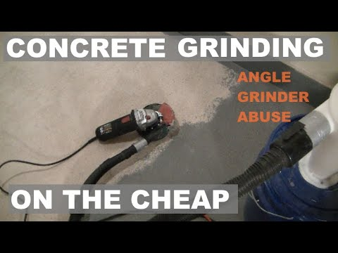 Concrete Grinding With Harbor Freight Angle Grinder