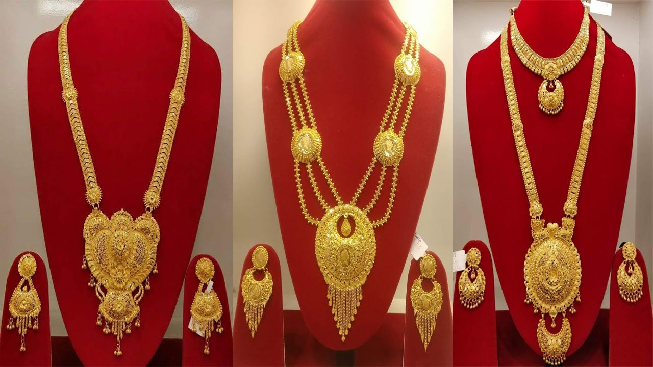 Latest Gold necklace designs | gold haram designs with matching earrings designs | Today Fashion