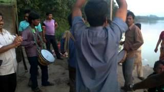 see the bhasan dance Celebration of Bhasan with kurkuri and Dhak Dhol
