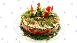 Постный Торт Оливье к Новогоднему Столу