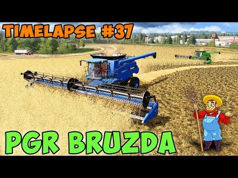 Farming simulator 17 | PGR Bruzda with Seasons | Timelapse #37 | Harvest barley and canola thumbnail
