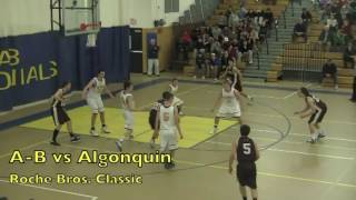 Acton Boxborough Varsity Boys Basketball vs Algonquin 2/21/12