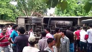A BUS ACCIDENT IN SAHEBNAGAR, MURSHIDABAD