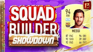 Fifa 20 Squad Builder Showdown Advent Calendar!!! LIONEL MESSI!!! Day 13 Vs Rob