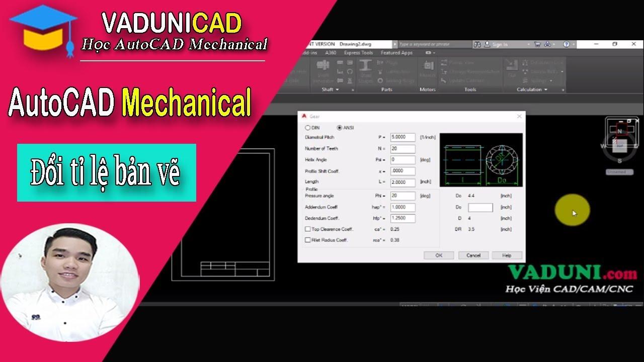 [#VADUNI] | Cách chuyển đơn vị INCH sang MM trong AutoCAD Mechanical