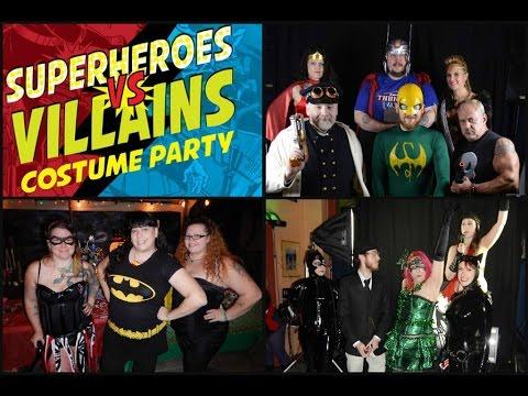 Superheroes vs Villains Costume Party 2014 & Superheroes vs Villains Costume Party 2014 - YouTube