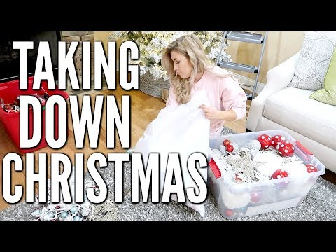TAKING DOWN CHRISTMAS MOTIVATION   ULTIMATE CLEAN AND DECORATE WITH ME 2019   Love Meg
